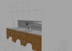 Köögimööbel 3D joonisena
