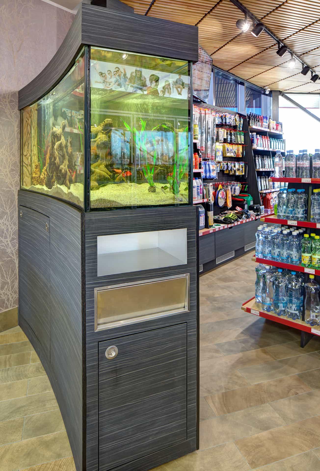 Cabinet under the aquarium