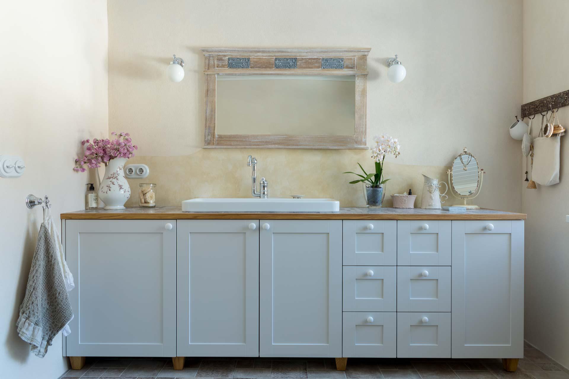 Custom made furniture for the bathroom