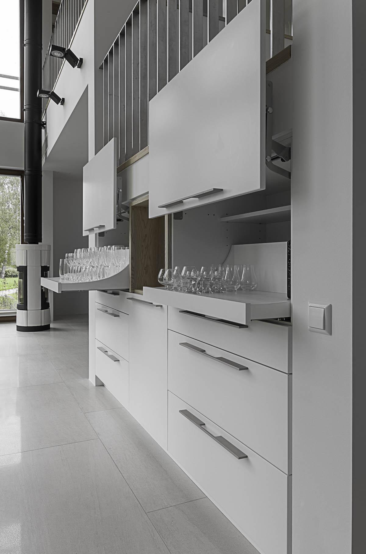 Custom made furniture serving cabinet