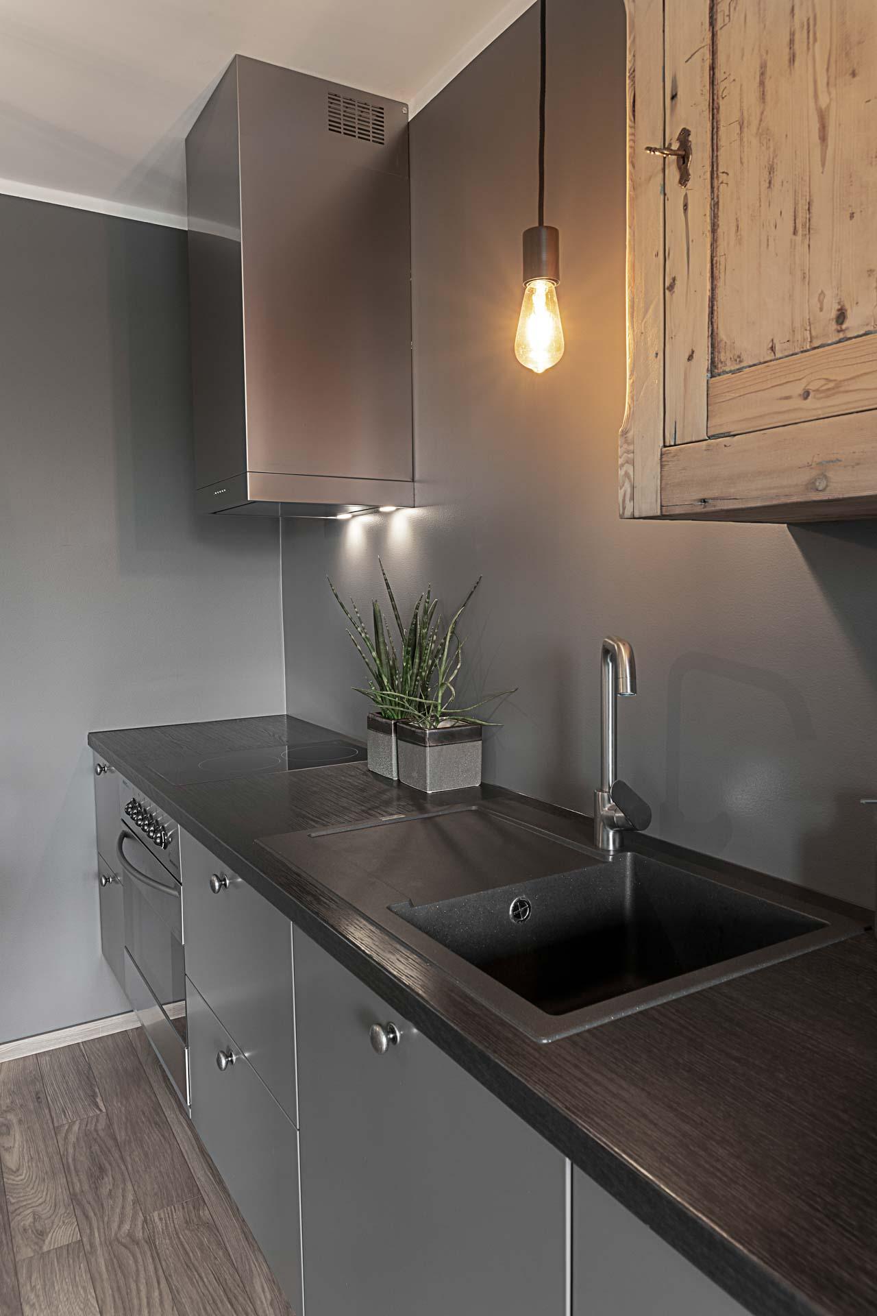 Gray kitchen furniture