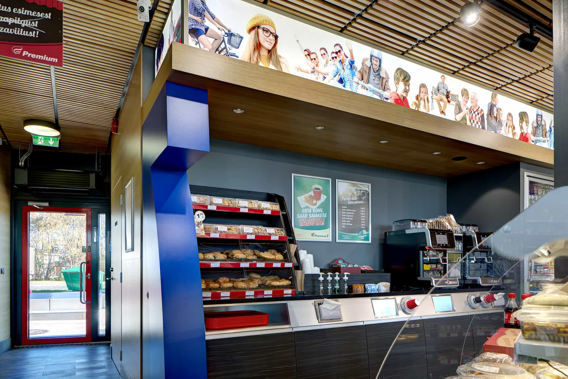 Interior design for the gas station